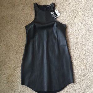 Dresses & Skirts - Express faux leather dress